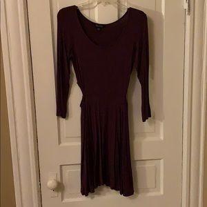 Purple American Eagle dress with cutouts on side